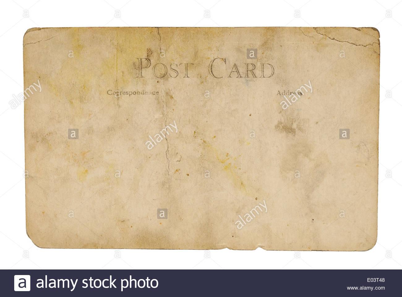 Vintage poster usé blanc sur la carte Photo Stock