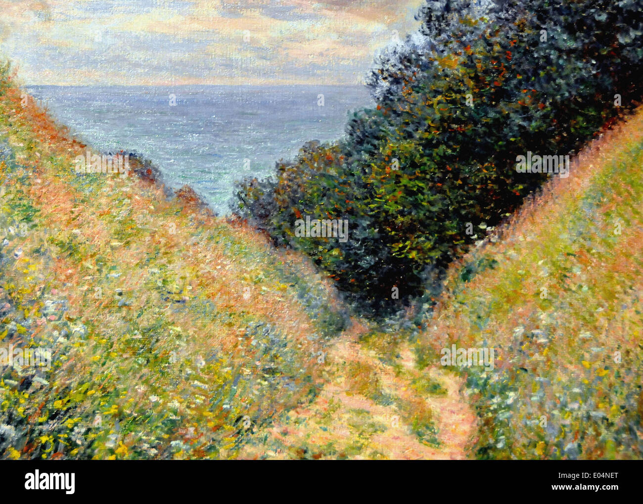 Claude Monet Road à la Cavee, Pourville Photo Stock
