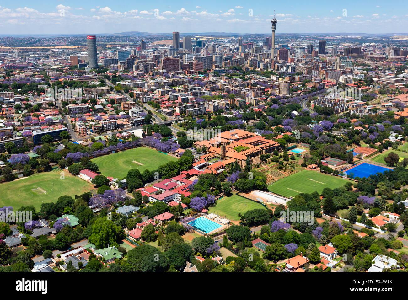 Vue aérienne de St John's College, Houghton.Johannesburg Afrique du Sud. Banque D'Images