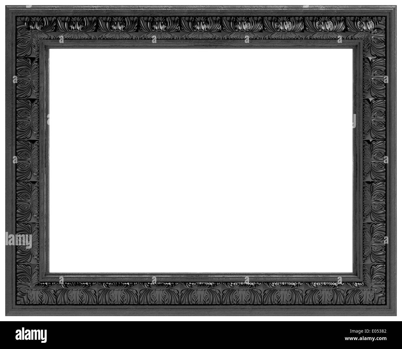 cadre sculpté noir pour un miroir (isolé sur fond blanc banque d