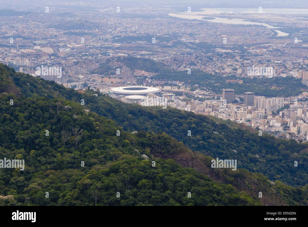 Rio de Janeiro, Zona Norte, Stadion, la FIFA 2014 Maracana, Worldcup, Brésil Photo Stock