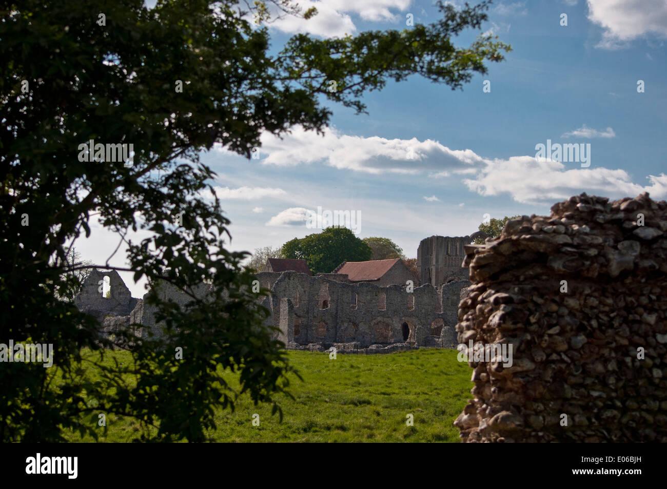 Castle Acre prieuré Photo Stock