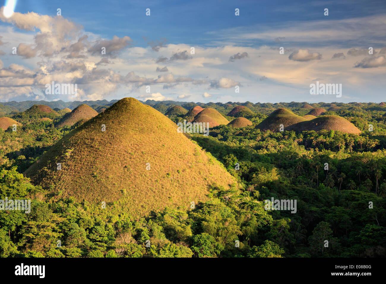 Philippines, Bohol, collines de chocolat Photo Stock