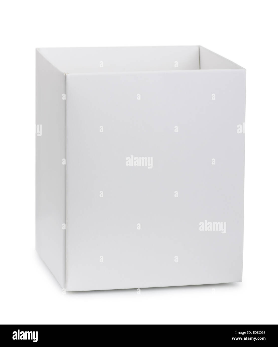 Ouvert blanc isolated on white Photo Stock