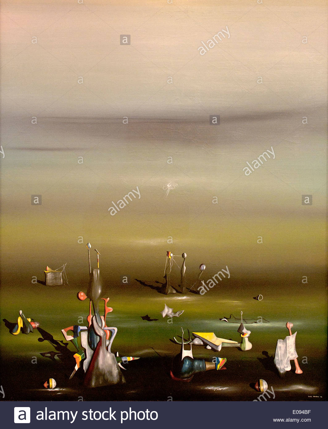 Maintes et maintes fois 1942 Yves Tanguy 1900-1950 France français / American United States of America Photo Stock