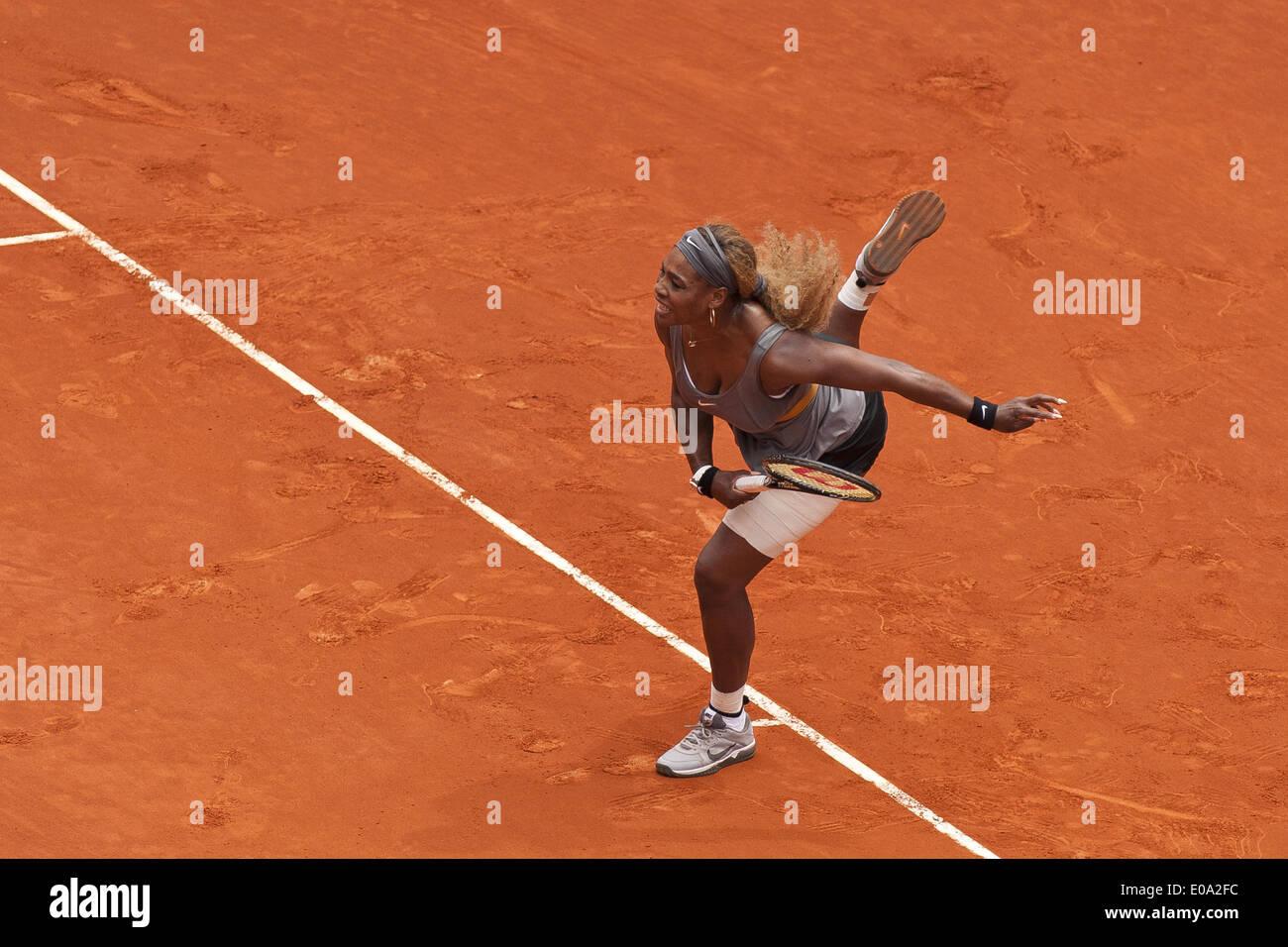 Madrid, Espagne. 7 mai, 2014. Serena Williams, les Etats-Unis contre Shuai Peng au cours de la Mutua Madrid Open Master 1,000 Tournoi de tennis joué à la Caja Magica complexe dans Madrid, Espagne, 07 mai 2014.(Photo de Oscar Gonzalez/NurPhoto) Crédit: Oscar Gonzalez/NurPhoto ZUMAPRESS.com/Alamy/Live News Photo Stock