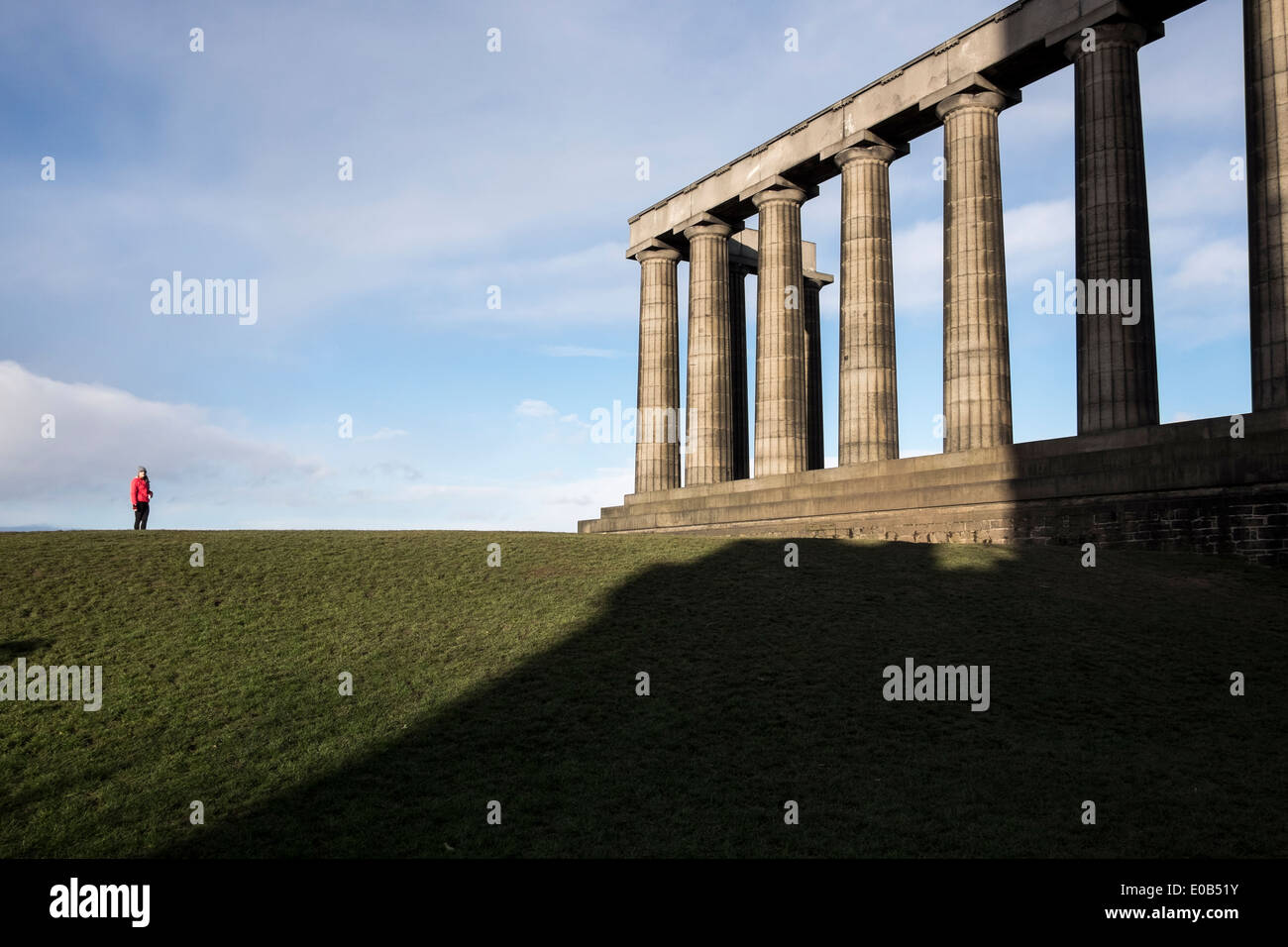 Le Monument de l'Écosse à Édimbourg Photo Stock