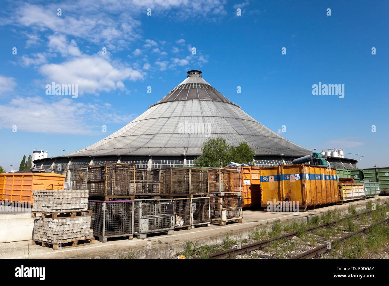 Rinterzelt Müllaufbereitungs Verbrennungsanlage,/, Wien, Österreich - Rinterzelt, installations de gestion des déchets, Vienne, Autriche Photo Stock