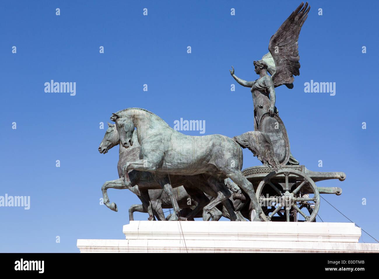 Sculpture sur le Vittoriano, Rome, Italie Photo Stock