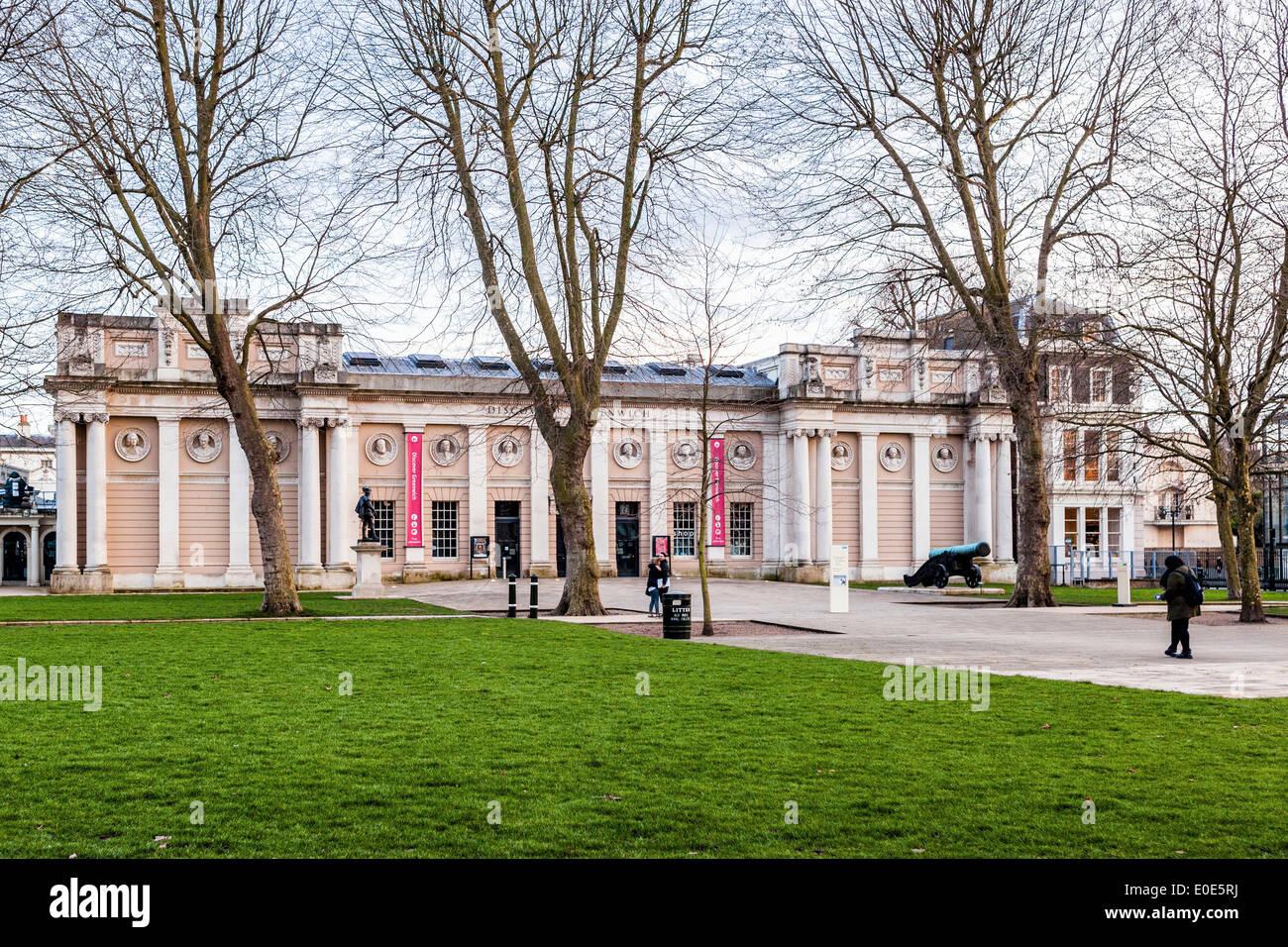 Découvrez Greenwich Visitor Center à l'Old Royal Naval College - Grade II orné énumérés Pepys building, Greenwich, London, UK Photo Stock