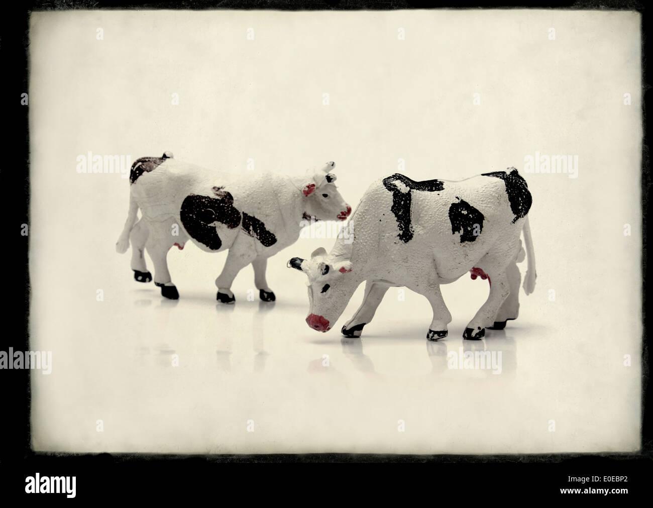 Les animaux de la ferme jouet Photo Stock