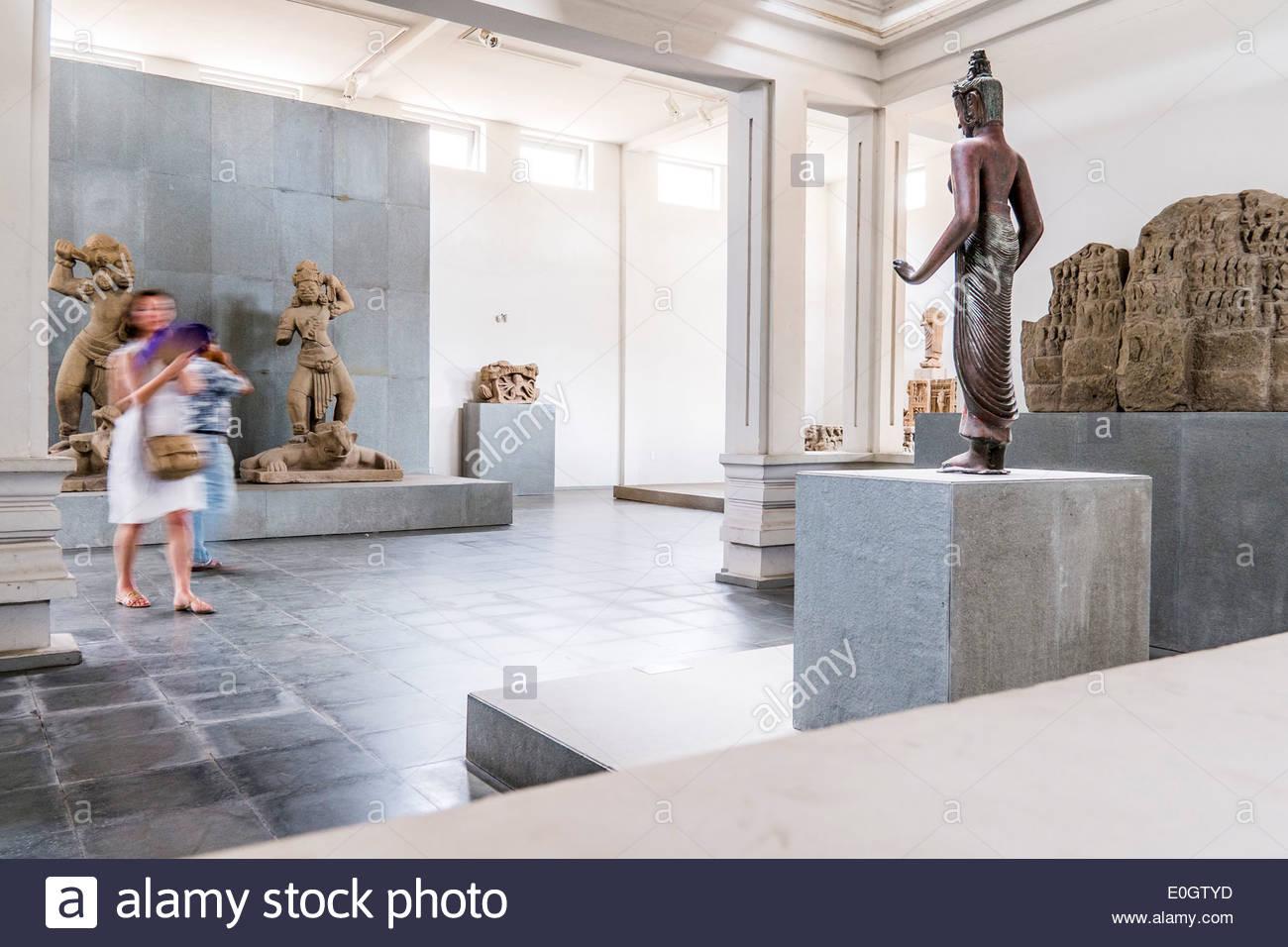 Le musée Cham à Da nang, Vietnam, Asie Photo Stock