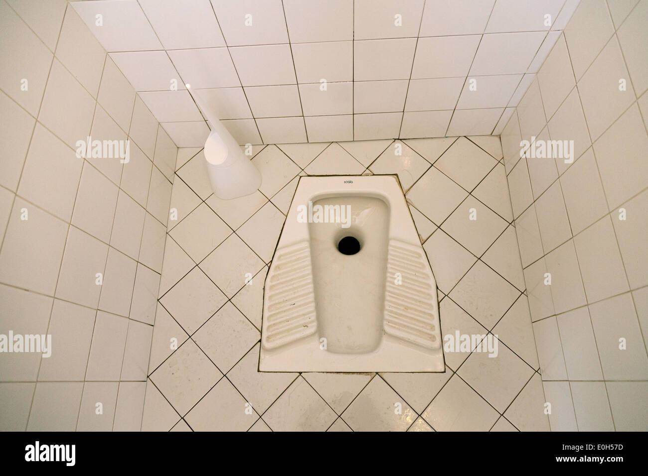 Trou dans le sol, toilettes Squat Rome Italie Europe Photo Stock
