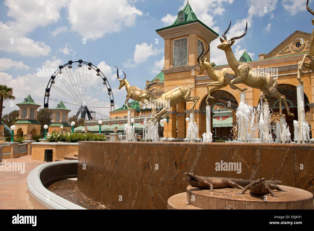 Gold Reef City Casino et Hôtel à Johannesburg, Gauteng, Afrique du Sud, l'Afrique Photo Stock