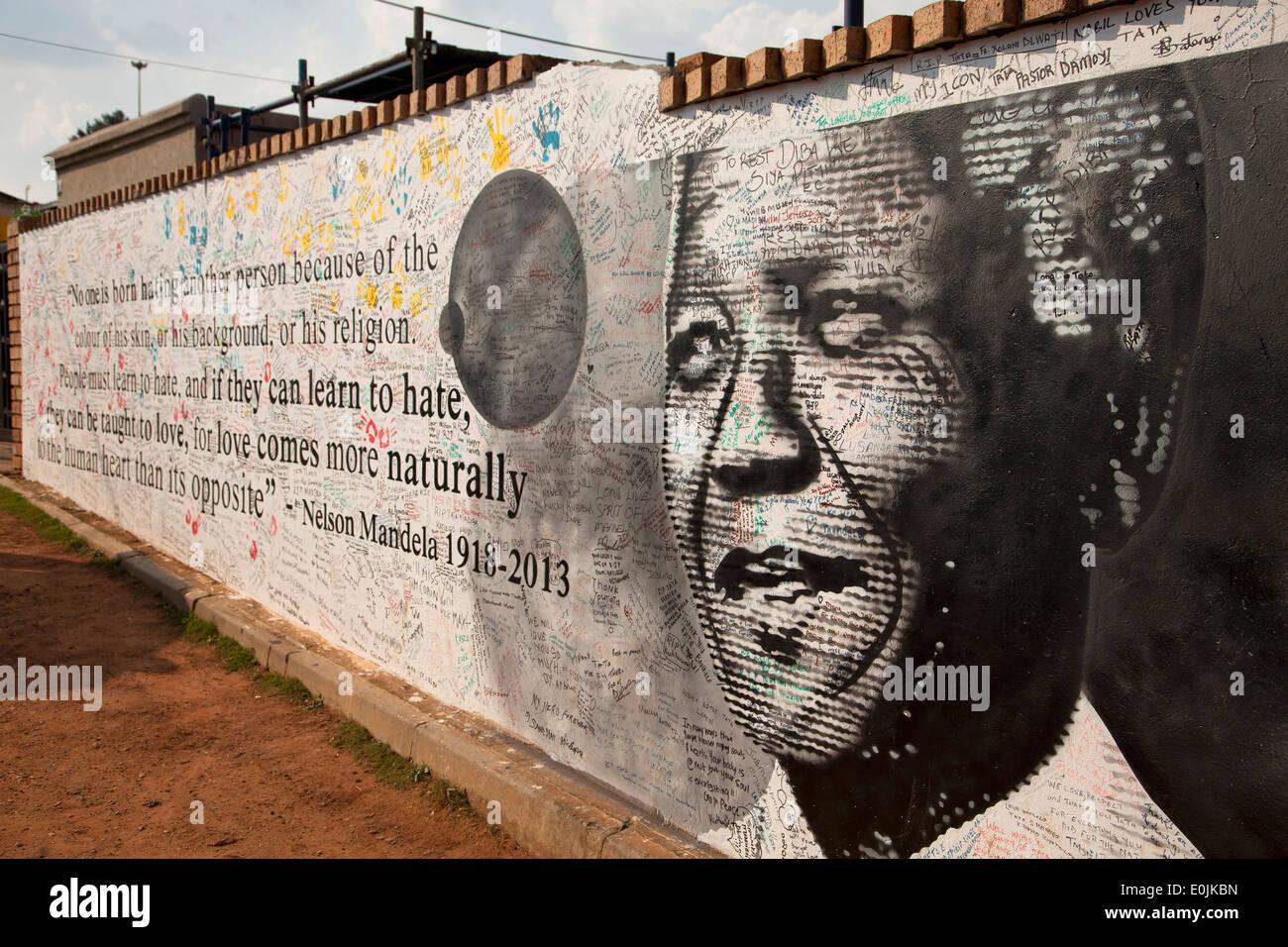Monument à la mémoire de Nelson Mandela, Soweto, Johannesburg, Gauteng, Afrique du Sud, l'Afrique Photo Stock