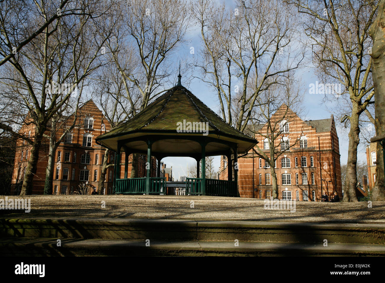 Dans les jardins limitrophes Arnold Circus, Shoreditch, London, UK Photo Stock