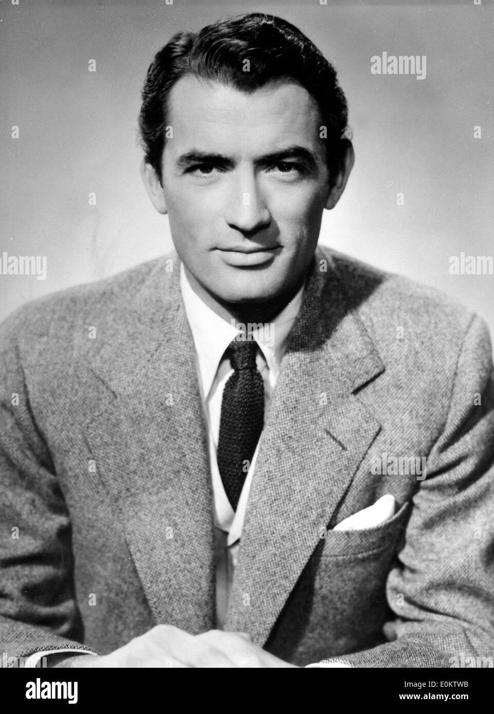 Portrait de l'acteur Gregory Peck Banque D'Images