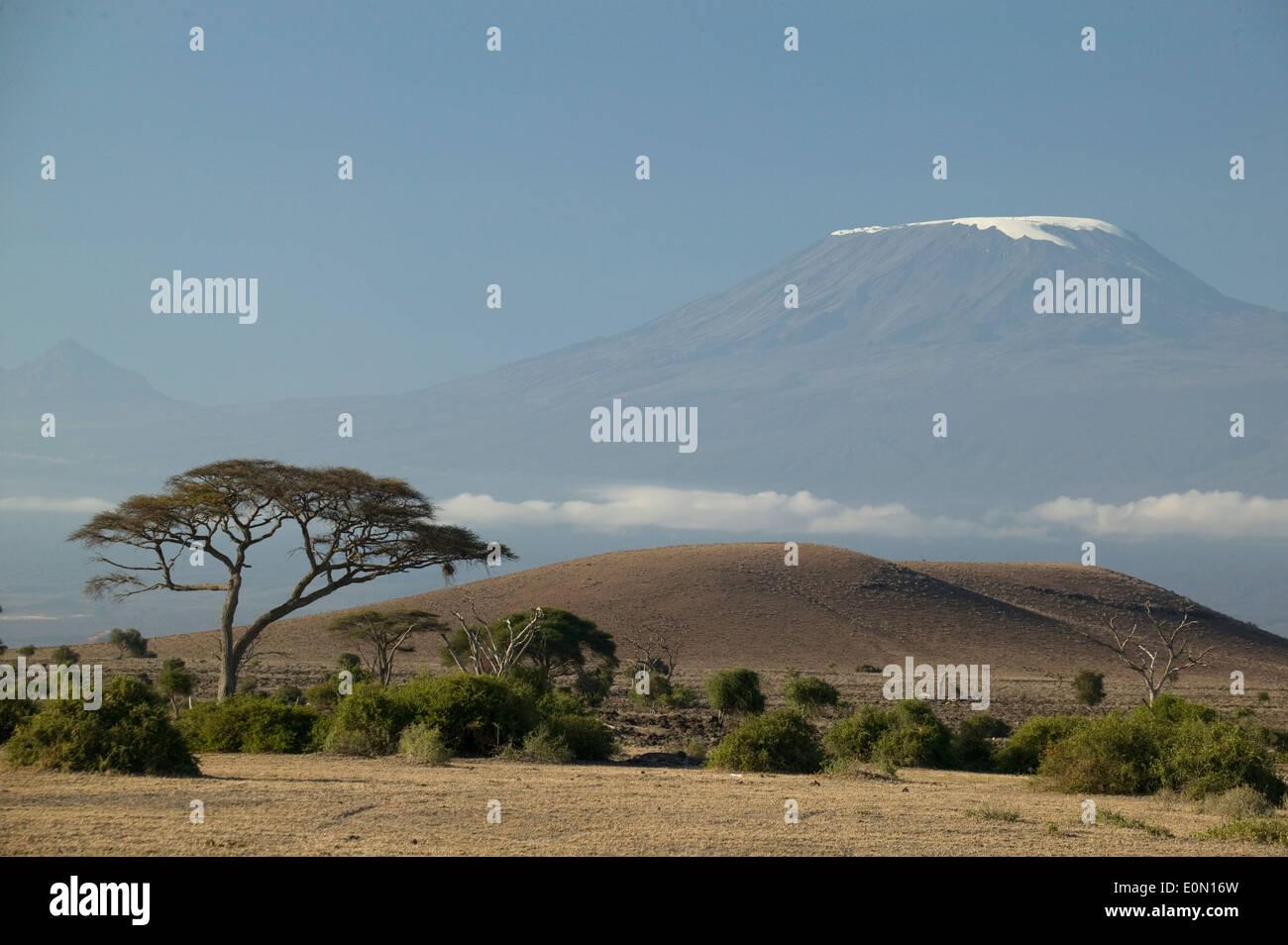 Le mont Kilimandjaro, le paysage du Parc National Ngorongoro, en Tanzanie Banque D'Images