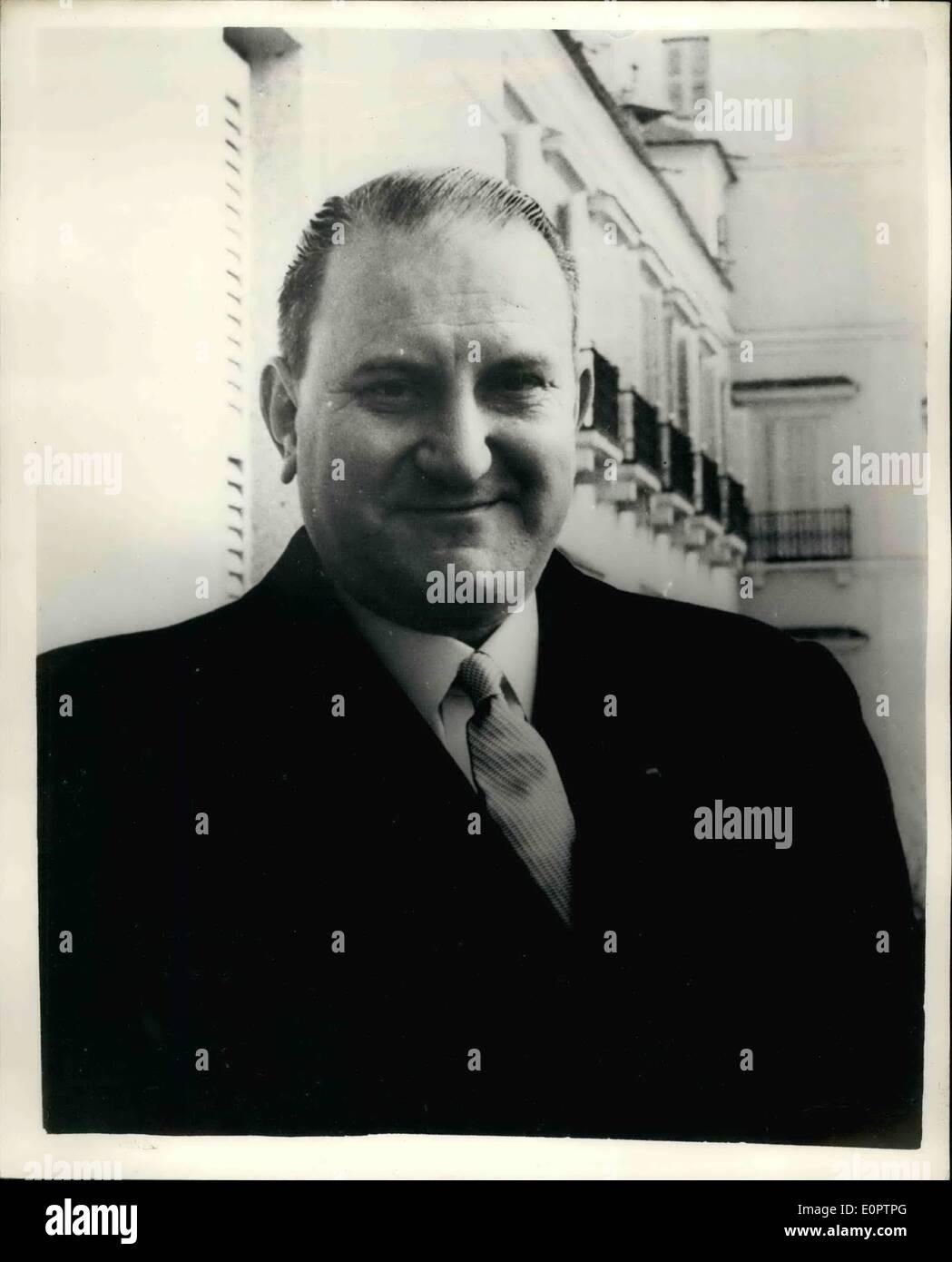 Le 28 février 1957 - Michael Stewart (ministre des Affaires étrangères britannique Sec. Photo Stock