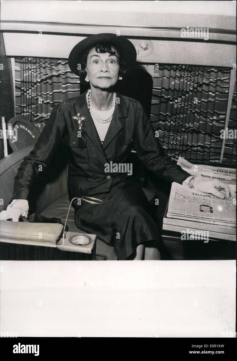 July 30, 1957 - couturier français, Coco Chanel Photo Stock bb4f7a20710