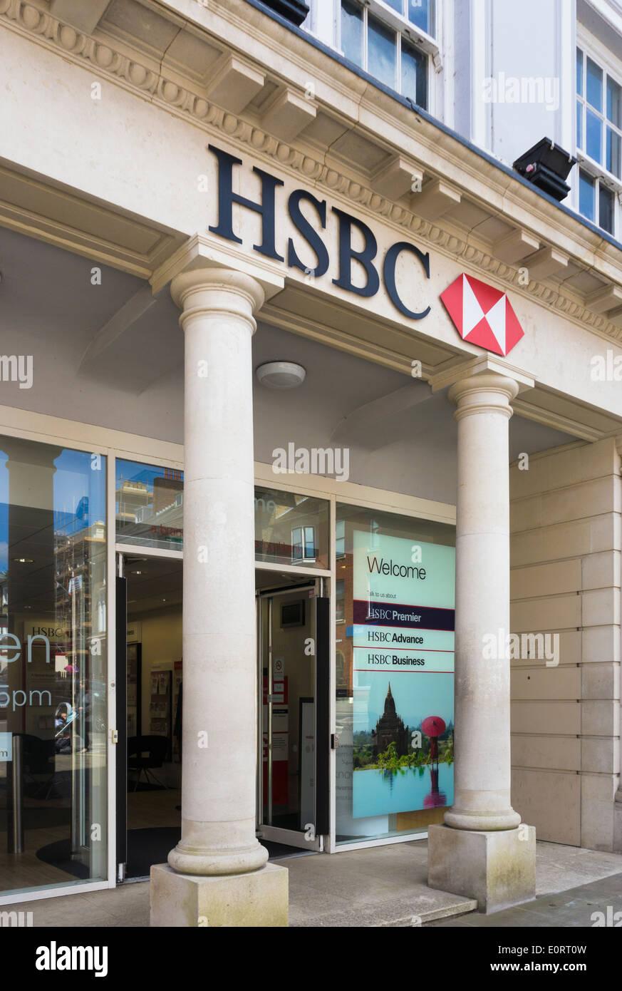 La banque HSBC, England, UK Photo Stock