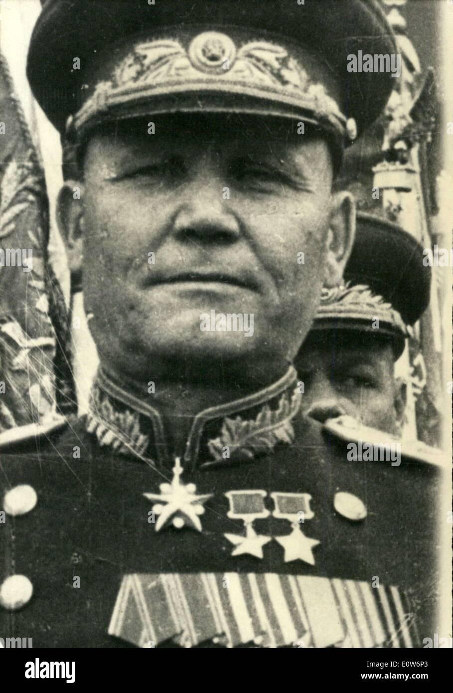 Le 11 août 1961 - Mal Koniev, commandant des troupes russes à Berlin circa 1945 APRESS.co Photo Stock