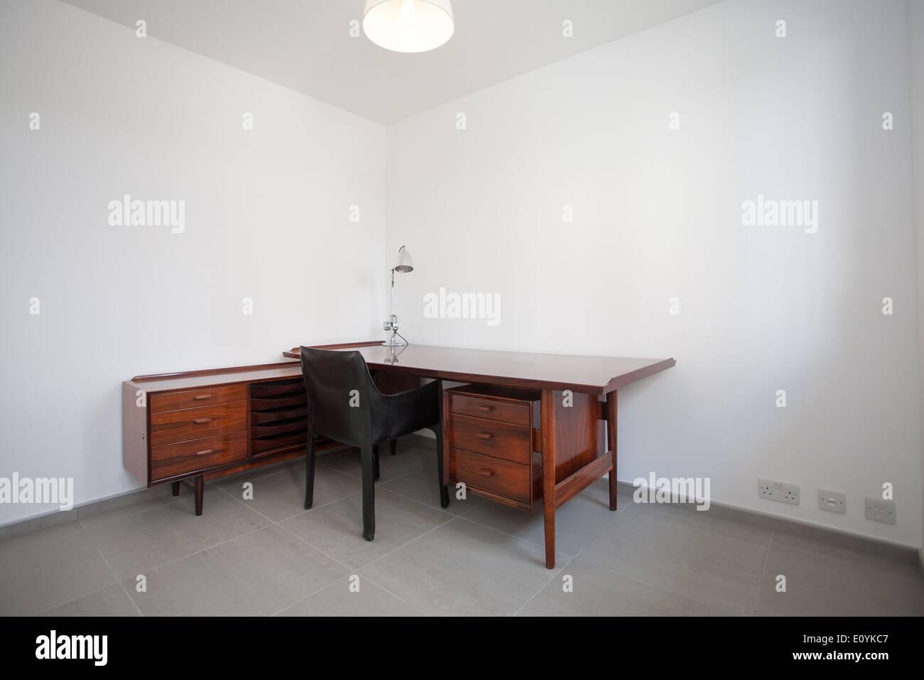 Dans l'étude maison moderne, London, UK Photo Stock
