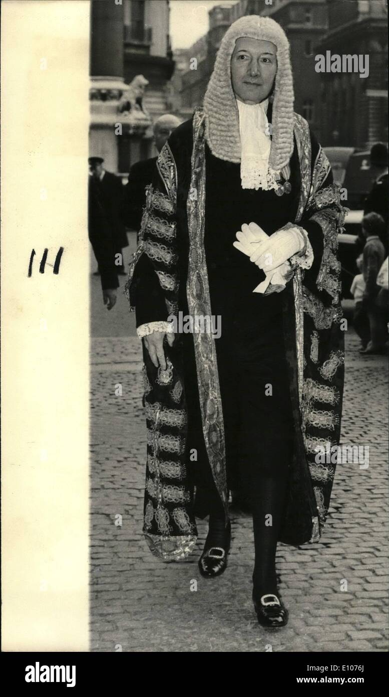 02 février, 1970 - 11 étudiants de démonstration de la cour libérée. Les 11 étudiants gallois emprisonné pendant trois mois pour le dernier mercredi de la haute cour du ''demo'' ont été libérés aujourd'hui. Au lieu de cela, la cour d'appel lié à la bonne conduite et de maintenir la paix pendant douze mois. Mais lord Denning, maître des rôles, président, a jugé que le juge Lawton n'ont le pouvoir de les engager de façon sommaire en prison. lord Denning a dit: ''La loi a berm justifié par l'orientation que le juge a pris. Il a indiqué que la loi et l'ordre doit être et sera maintenu dans ces tribunaux Photo Stock