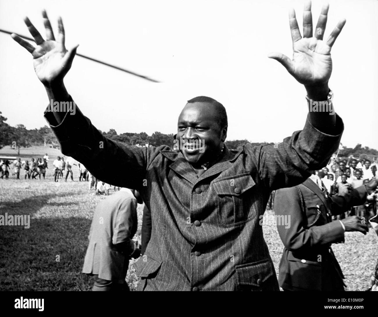 AL-HAJJ Le Maréchal IDI Amin Dada, président de la république de l'Ouganda. Photo Stock