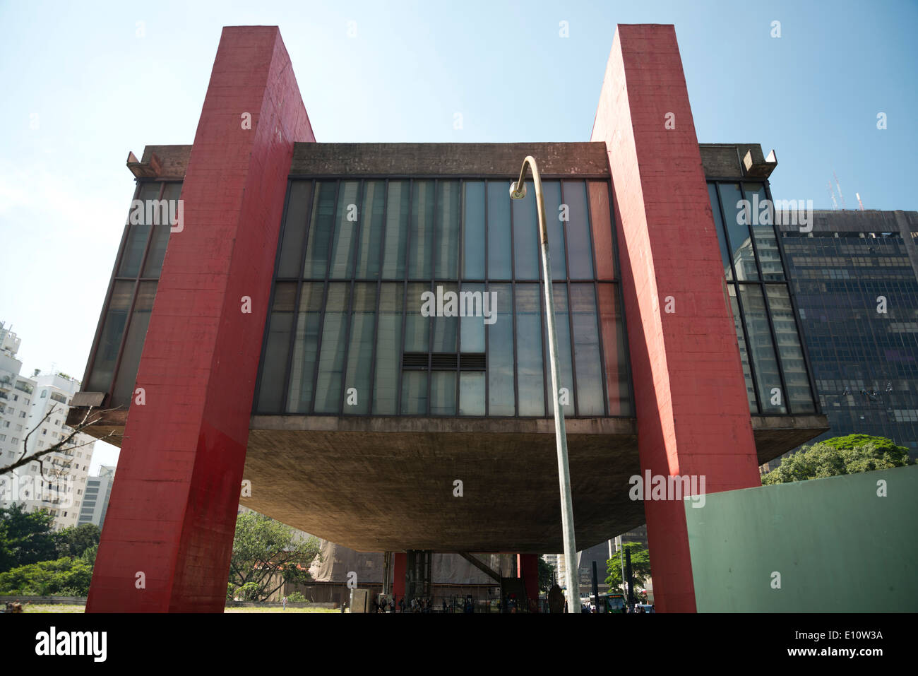 Le musée d'Art de Sao Paulo, MASP. Photo Stock
