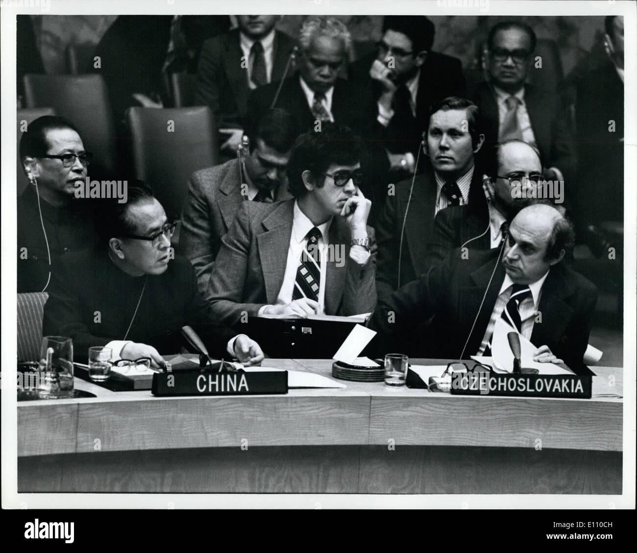 02 février 1975 - ~~~~ Chen Chu sec de l'ONU. Conseil Photo Stock