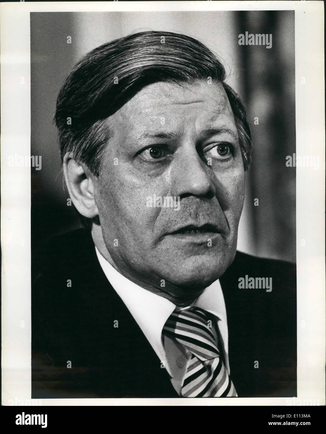 10 octobre 1975 - Helmut Schmidt, chancelier de la Fed. Rép. de l'Allemagne lors de la vs conseil de la Chambre de Commerce Internationale séance à l'hôtel Pierre à New York, 2 octobre 1975. Photo Stock