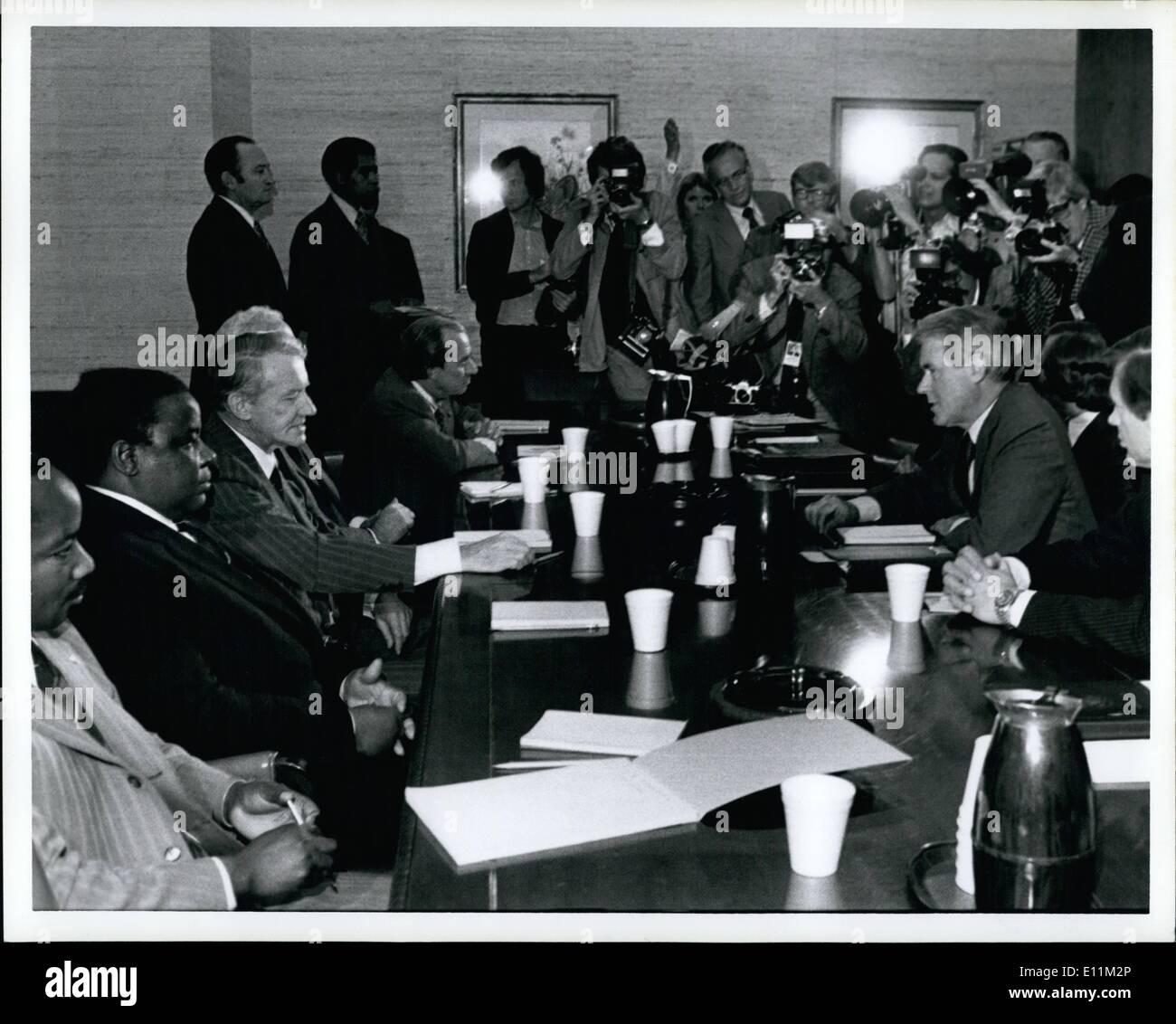 10 octobre 1978 - Le Département d'État réunis à Sec. Vance. Photo Stock