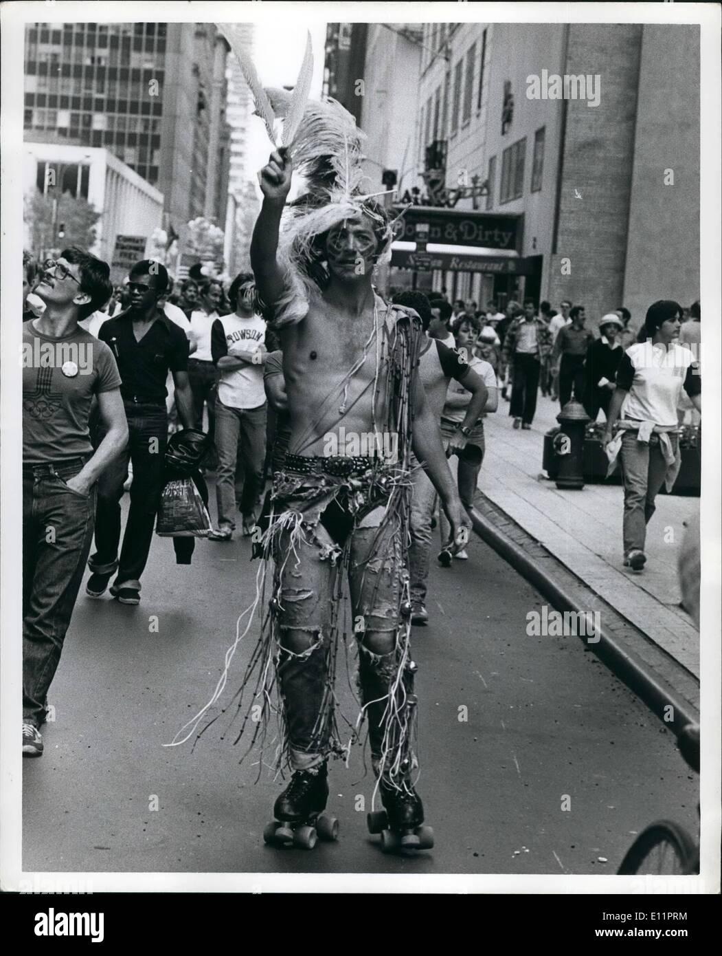 Juin 06, 1979 - Gay Homme Demo, New York. Photo Stock
