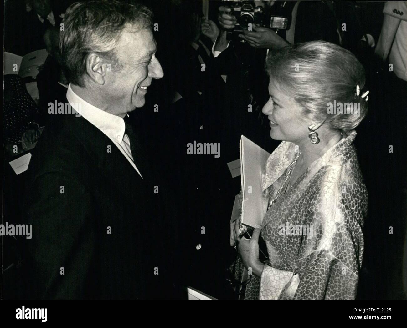 Septembre 18, 1981 - Un gala a eu lieu au Théâtre Rond-Point Renaud-Barrault en l'honneur de Gene Kelly au profit du centre de l'Amérique. Photo Stock