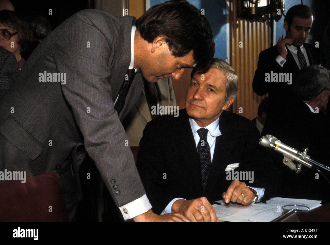 Aug 05, 1985; Washington, DC, USA; (PHOTO) (date inconnue) Secrétaire d'État James Baker.. : KE Photo Stock