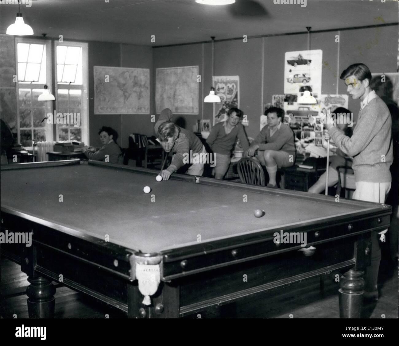 Le 26 février 2012 - Gordonstoun: dans la salle de loisirs de l'une des maisons, où le billard et d'autres jeux sont joués à l'extérieur de leur étude et les heures de travail. Photo Stock