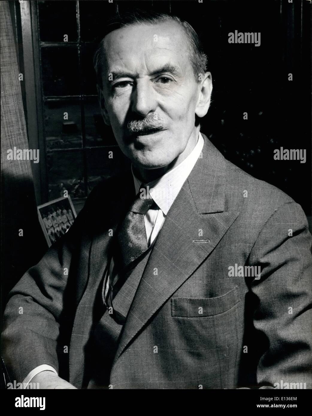 28 févr. 2012 - Le nouveau Lord-maire de Londres: Sir Noel Vansittart Bowater: Membre de la célèbre famille, deux anciens membres de Photo Stock