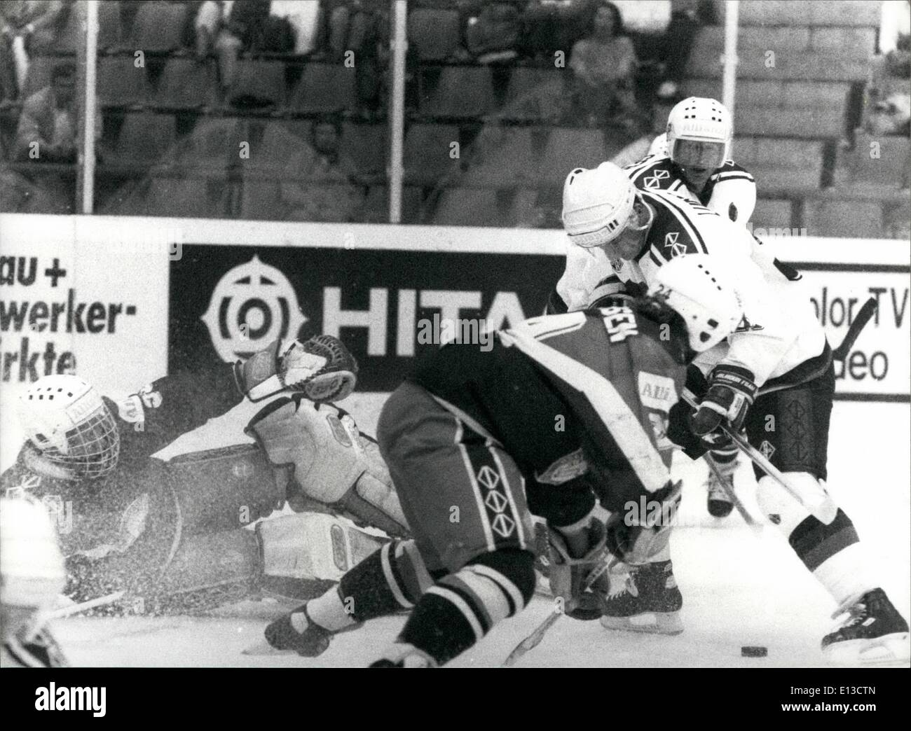 Mars 02, 2012 - Championnats du monde de hockey sur glace en Suisse: Les championnats de hockey sur glace a eu lieu à Berne/Suisse de Photo Stock