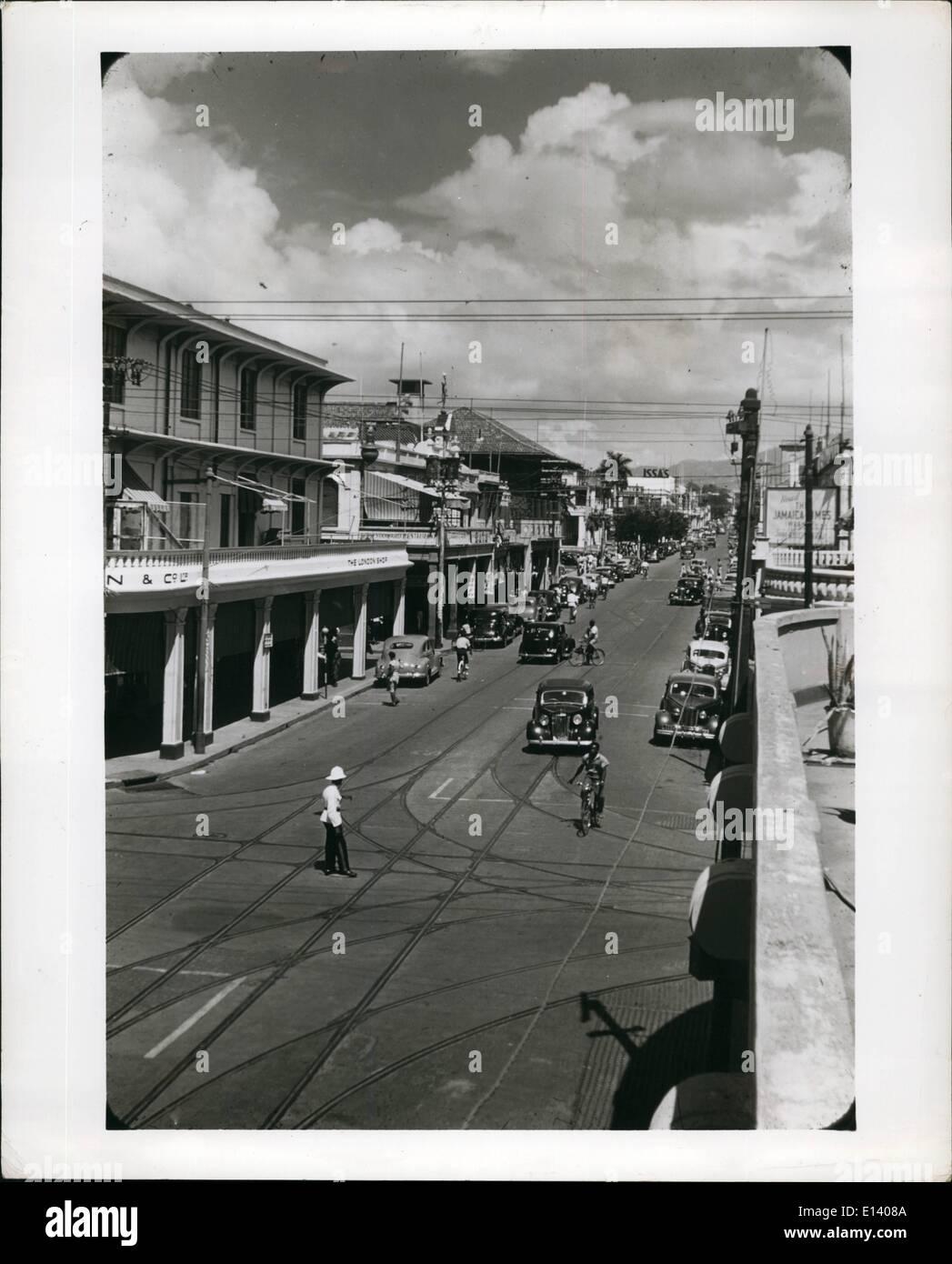 27 mars 2012 - King Street, Kingston, Jamaïque, B.W.I. Photo Stock