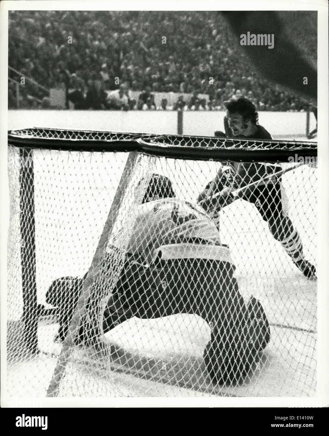 31 mars 2012 - URSS hockey sur glace - Vancouver Septembre 1972 Photo Stock