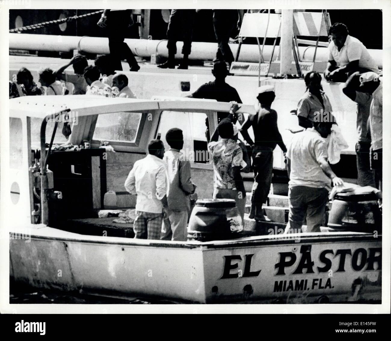 Avril 04, 2012 - les réfugiés cubains arrivant à Key West en Floride Banque D'Images