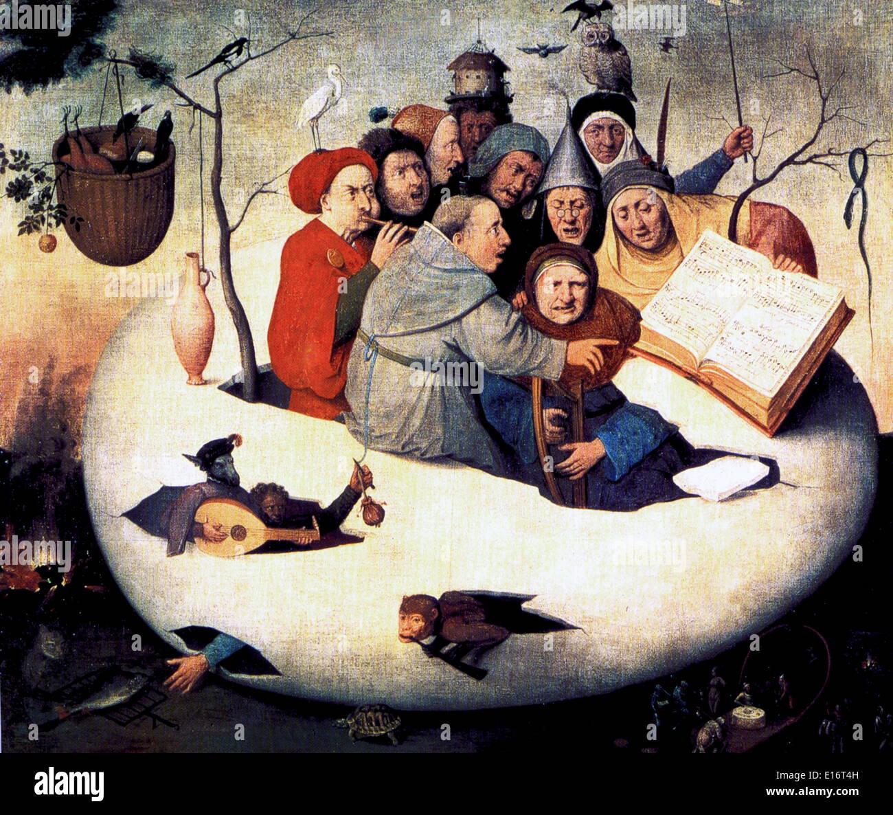 Le concert dans l'oeuf par Jérôme Bosch, 1480 Photo Stock