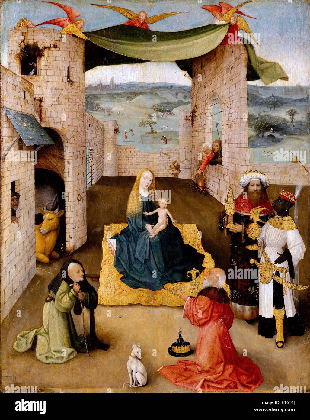 L'Adoration des mages de Jérôme Bosch, 1475 Photo Stock