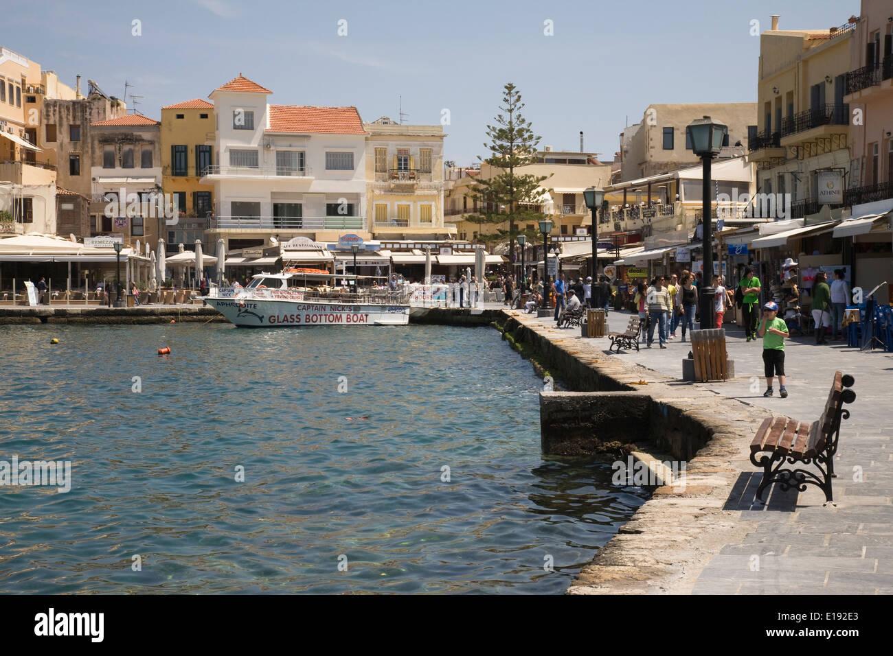 Le port de La Canée, Crète, Grèce. Banque D'Images