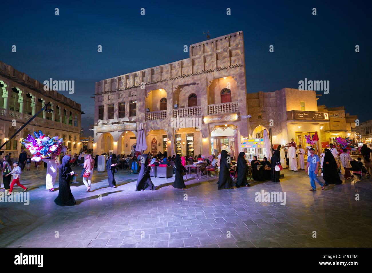 Doha. Le Qatar. Souq Waqif. Photo Stock