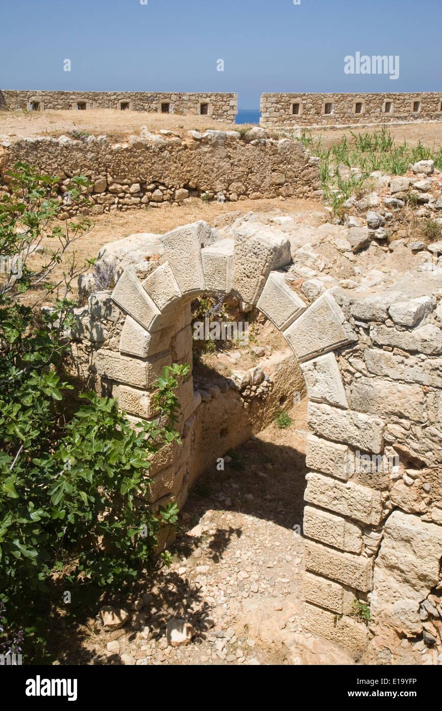 La Fortezza à Rethymno, Crète Banque D'Images