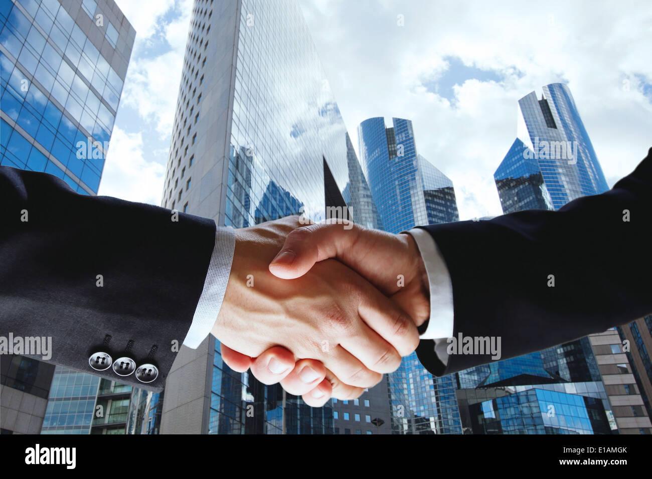 transaction commerciale Photo Stock