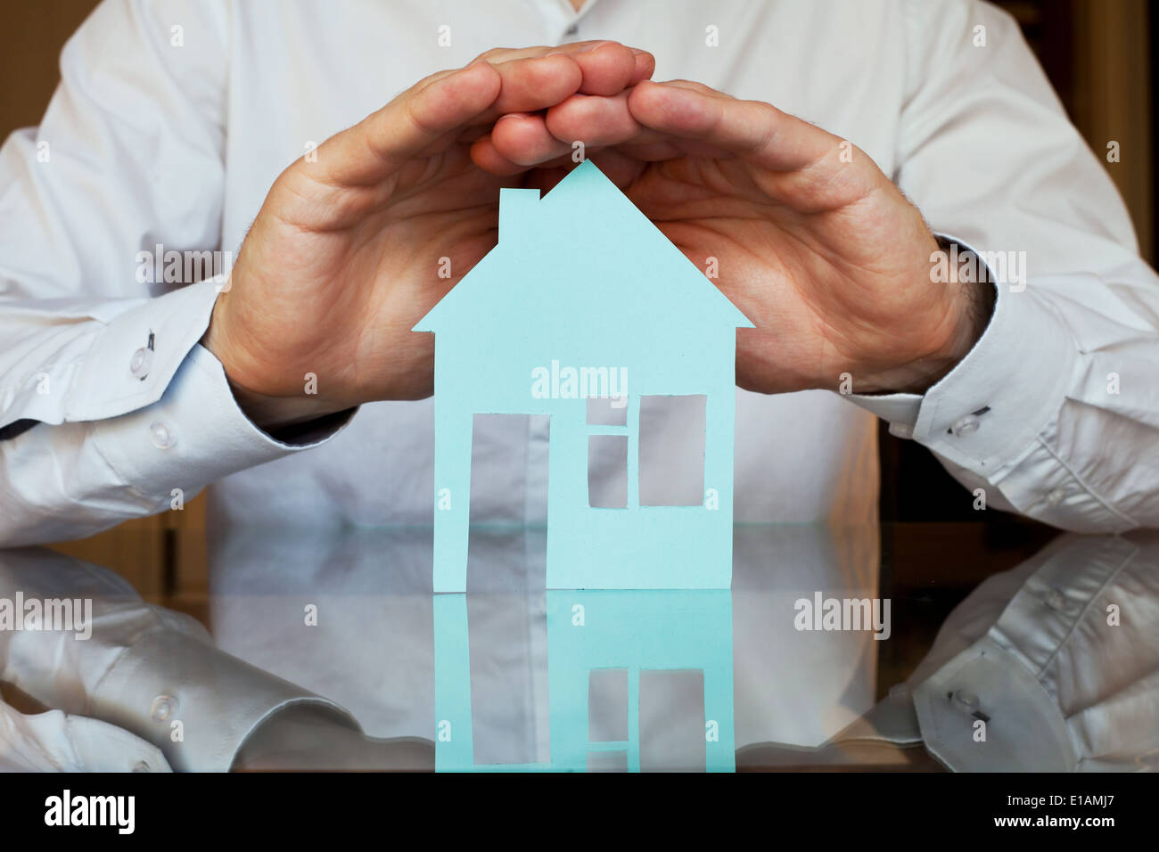 Concept d'assurance immobilier Photo Stock