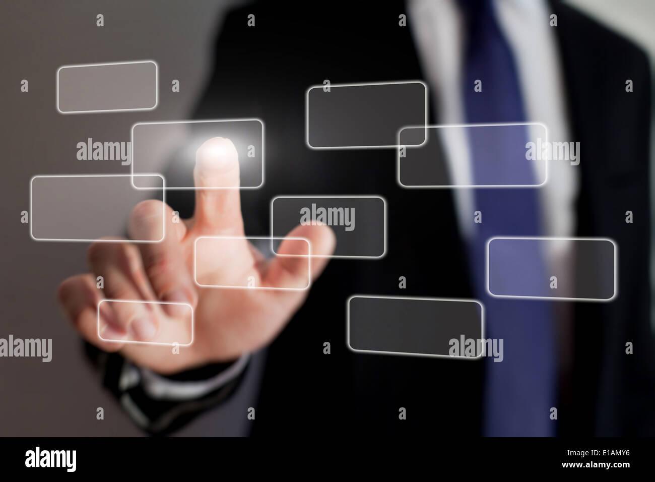 La technologie d'interface écran tactile Photo Stock